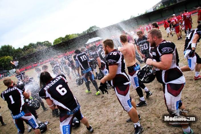 Greyhounds feiern den Aufstieg in die Oberliga